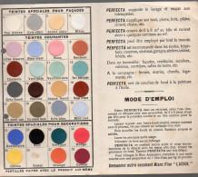 Carte De Nuances Peintures PERFECTA (Valence, Drôme) (PPP2907) - Publicités