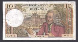 10 Francs  VOLTAIRE  Du  2 - 9 - 1971 - 10 F 1963-1973 ''Voltaire''