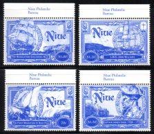 Niue - 698/701 ** 1ère Migration De Niue Fekai. Effigie De J.Cook. - Niue