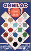 Carte De Nuances PEINTURES OMNILAC (PPP2909) - Publicités
