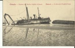 Ostende -- Ruines - Navire Anglais échoué.   (2 Scans) - Oostende