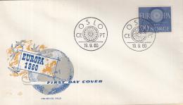 Noorwegen - FDC 19-9-1960 - Europa/CEPT - Oslo - M 449 - 1960