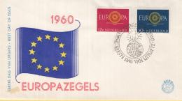 Nederland - FDC 19-9-1960 - Europa/CEPT - 's-Gravenhage - M 753-754 - 1960
