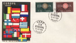 Spanje - FDC 19-9-1960 - Europa/CEPT - Madrid - M 1189-1190 - 1960