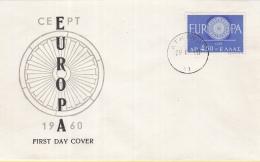 Griekenland - FDC 19-9-1960 - Europa/CEPT - Athena/Athene - M 746 - 1960