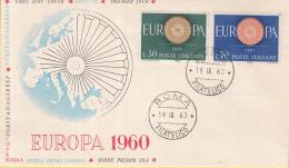 Italië - FDC 19-9-1960 - Europa/CEPT - Roma/Rome - M 1077-1078 - 1960