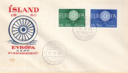 IJsland - FDC 19-9-1960 - Europa/CEPT - Reykjavik - M 343-344 - 1960