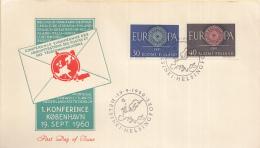 Finland - FDC 19-9-1960 - Europa/CEPT - Helsinki-Helsingfors - M 525-526 - 1960