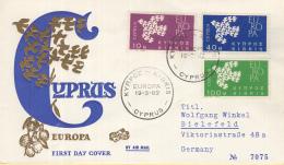 Ierland - FDC 19-3-1962 - Europa/CEPT - Kibris/Cyprus - M 197--199 - 1962