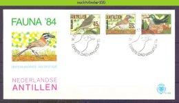 Mwe169fb E169 FAUNA VOGELS NEST BIRDS VÖGEL AVES OISEAUX NEDERLANDSE ANTILLEN 1984 FDC - Antillen