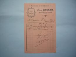 Facture Llustrée 1898 Jules Douspis Papeterie & Impressions  ...  Monistrol Sur Loire Format A5 - France