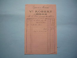 Facture Llustrée 1899 Vt Robert épicerie & Mercerie  ...  Monistrol Sur Loire Format A5 - 1800 – 1899