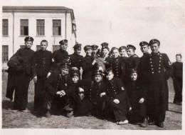 Photo Originale Bulgarie - Groupe De Jeunes Militaires En Uniformes Période Guerre 39-45 - Бълг& - Guerre, Militaire