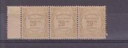 FRANCE   TAXE  N° 45 X3  NEUFS SANS GOMME - 1859-1955 Neufs