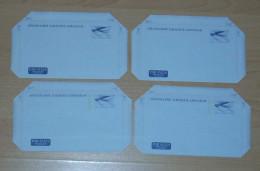 Finnland Finland 1976-79  4 Aerogramme Air Letter ** MNH - Enteros Postales