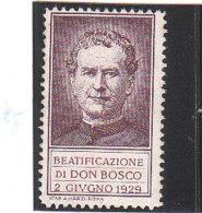 ERINNOFILO - VIGNETTA - CINDERELLA -  BEATIFICAZIONE DON BOSCO 1929 - Cinderellas