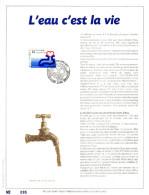 Feuillet D´art Tirage Limité 500 Exemplaires Frappe Or Fin 23 Carats 2364 L'eau C'est La Vie - Panes