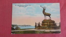 - Wisconsin> Janesville   Elk Monument Juneau Park   =ref  2188 - Janesville