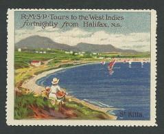 B28-24 CANADA Royal Mail RMSP Halifax St Kitts MNG - Local, Strike, Seals & Cinderellas