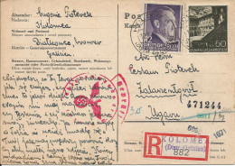 1942 - KOLOMEA, Postkarte,Ceslaus (Czeslaw) Pioterek 2 Scan - Ukraine