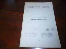 CB2 Carte Des Sols De La Belgique Texte Explicatif De La Planchette De Fontaine L'Evêque 153 W 1957 - Cultuur