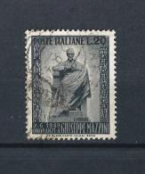 IT55) ITALIA Repubblica1949 - Monumento A Mazzini - N.604 Used - 1946-60: Usati