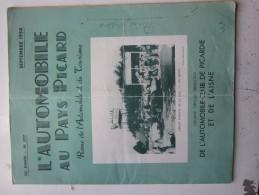 AR:L´automobile Au Pays Picard -Septembre 1954 - Circuit D´Amiens 20 Juin 1954 - 32 Pages - Journaux - Quotidiens