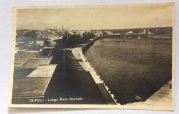 Tripoli Lungo Mare Bastionide Del 1924 Viaggiata Con Segnatasse Da 20 Cent. Altro F,p. F.bollo Asportato - Libya