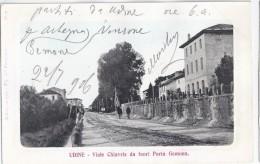 Udine 1906 - Viale Chiavris Da Fuori Porta Gemona - Animata - Udine