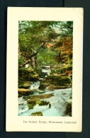 ENGLAND  -  Lynmouth  Watersmeet  The Rickety Bridge  Used Vintage Postcard As Scans - Lynmouth & Lynton