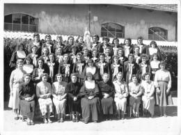 """05283 """" MATHI (TO) - CONVITTO FIGLIE DI MARIA AUSILIATRICE - FOTO DI GRUPPO - 19. 5. 1955"""" ANIMATA. FOTOGRAFIA ORIGIN. - Persone Anonimi"""