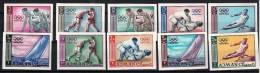 AJMAN Jeux Olympiques TOKYO 64. MICHEL N°27/36 Non Dentelé. ** MNH. Imperforate - Summer 1964: Tokyo