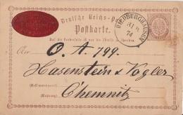 DR Ganzsache Minr.P2 Nachv. Stempel Hildburghausen 31.10.74 - Briefe U. Dokumente