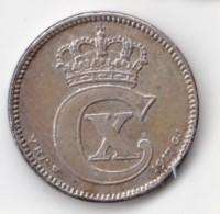 Denmark, 25 Øre, 1917 VBP, 2 Scans.  Silver   KM 815.1 - Denmark
