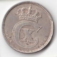 Denmark, 25 Øre, 1918 VBP, 2 Scans.  Silver   KM 815.1 - Dinamarca