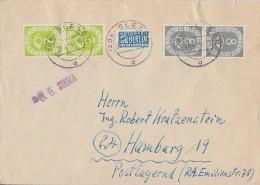 Bund Brief Mif Minr.2x 123, 2x 127 Seesen 23.4.54 Zurück 8.5. - BRD