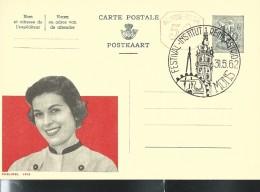 Publibel Obl. N° 1613M ( Miss Publibel) Obl: Mons 31/05/1962 - Interi Postali