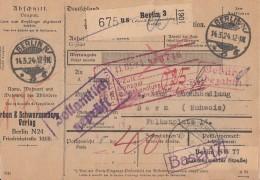 DR Paketkarte Gebühr Bezahlt Berlin 14.3.24 Gel. In Schweiz - Deutschland
