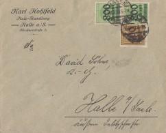 DR Ortsbrief Mif Minr.299,2x 306 Halle 10.10.23 - Deutschland