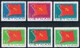 Vietnam - 4e Congrès Du Parti Ouvrier (carte Du Vietnam Et Drapeau Du Parti) 24/29 ** - Vietnam