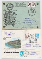 MAIL Post Used Stationery Cover USSR RUSSIA Architecture Leningrad Hermitage Week Letter - 1923-1991 UdSSR