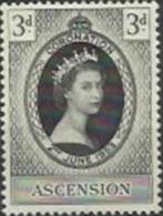 ASC 1953-61 DEFINITIVE, ASCENSION, 1 X 1v, MNH - Ascension (Ile De L')