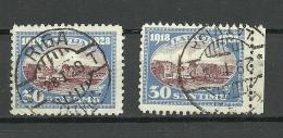 LETTLAND Latvia 1928 Michel 135 Y + Z  O - Lettonie