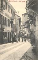 ITALIA - Domodossola - Via Briona (animata) - Altre Città