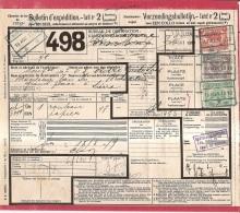 XFE-729    Verzendingsbulletin   TARIEF 2    ST NIKLAAS*WAAS  1919  Naar  LIERRE - 1915-1921
