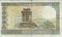 Libano  250 Lyvres (B), Banconota Circolata - Libano