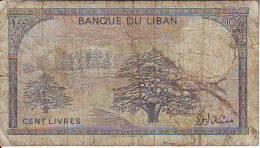 Libano  100 Lyvres (C) , Banconota Molto Circolata - Libano