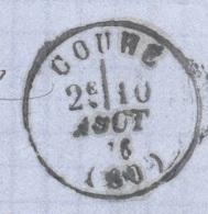 VIENNE 86 COUHE LAC Tad 16 Du 10/08/1876 Sur N° 60 TTB - Marcophilie (Lettres)