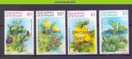 Muk066 FLORA BLOEMEN CACTUS * SPECIMEN * FLOWERS SUKKULENTEN BLUMEN KAKTEEN FLEURS GRENADINES OF ST. VINCENT 1982 PF/MNH - Sukkulenten