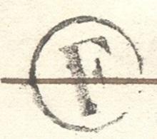 LOIRET 45  JARGEAU LAC Tad 15 Du 17/02/1854 Taxe 25 DT Boite Rurale F St Denis L'Hotel TTB - Marcophilie (Lettres)